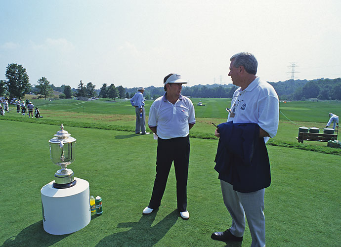 1993                        As part of an investment strategy conceived by PGA of America CEO Jim Awtrey (right), the PGA purchases 25 percent of Valhalla. The idea is to have the PGA own and operate a select number of prestigious clubs that can host the organization's major events, à la the PGA Tour's network of TPC courses. Three years later the PGA will buy another 25 percent of Valhalla before becoming the club's sole owner in 2000.