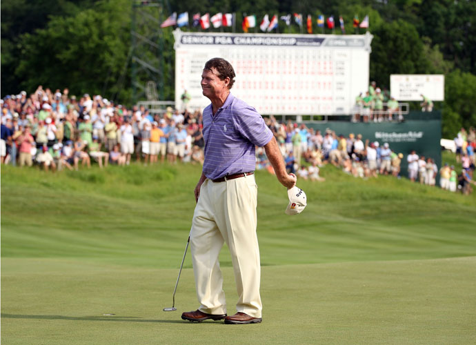 """2011                      And he does. Watson posts a 278 (-10) total and beats David Eger in a sudden-death playoff by birdieing the par-5 18th, the first extra hole. """"If this is the last tournament I ever win,"""" says Watson, 61, """"it's not a bad one to win."""" He hasn't won since, although he's come close."""