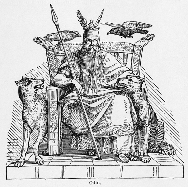 1000-1300                       Valhalla is first referenced not in Tiger's yardage book but in Norse mythology as a vast, spectacular Hall of the Slain, presided over by the god Odin.