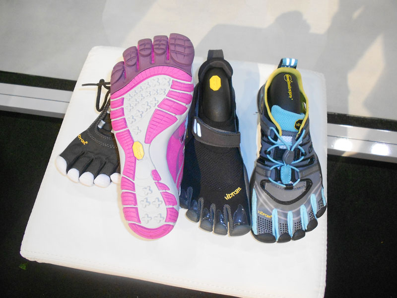 Vibram's Trek Sport Sandal (far right, $90), Trek Sport (second from right, $100) and Speed XC (third from right and water-resistant, $140) are lightweight and exceptionally comfortable. For more info, visit their website.