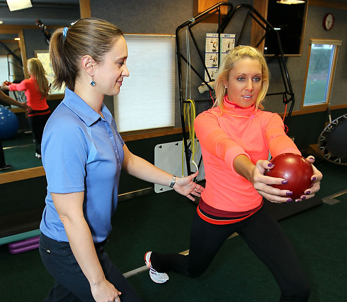 LPGA star Natalie Gulbis prides herself on her fitness.