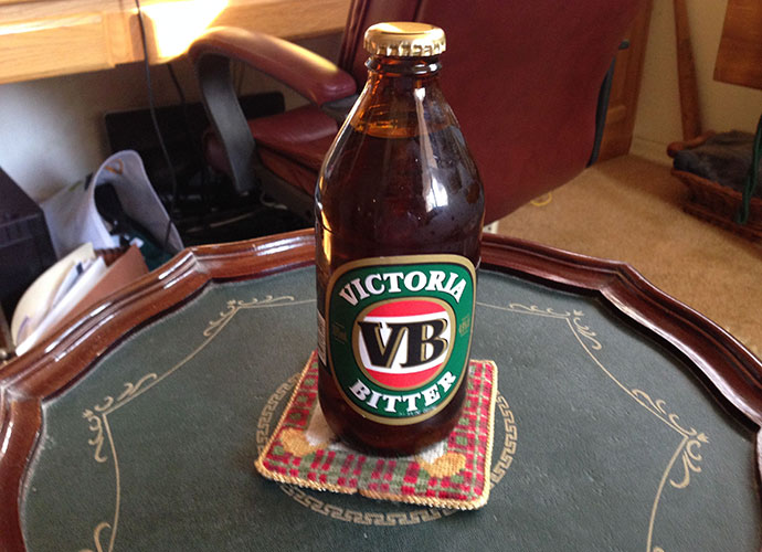 Of the MANY beers I sampled in my 1992 trip to Australia, Victoria Bitter was my favorite. Not available in the U.S., Greg Norman would keep a stash on his plane. In 2006, I had a friend at Next Level Sailing in San Diego secure six-packs from some Australian sailors to fill my fridge.