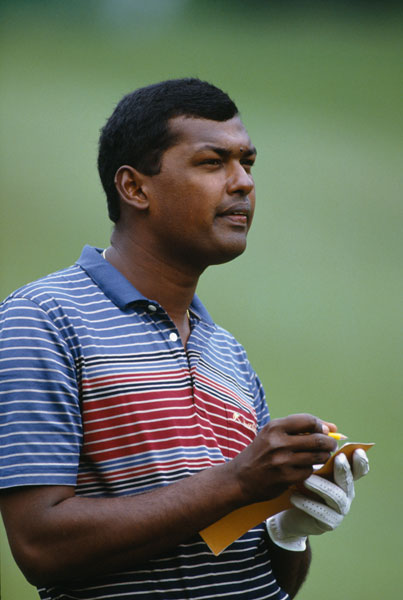 Singh wins the 1984 Malaysian PGA Championship. But his rags-to-riches ascent hits turbulence the next year when Singh is suspended from the Asian Tour over allegations of scorecard-doctoring at the Indonesian Open. Singh denies wrongdoing, but after an official investigation, the suspension becomes a lifetime ban.