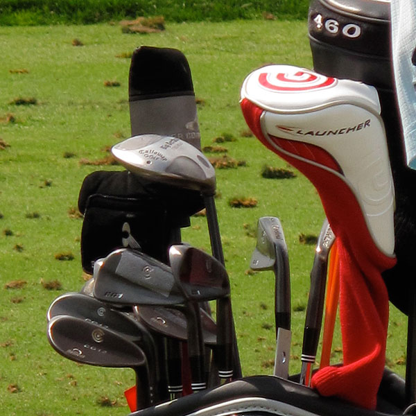 has Cleveland Golf technicians add weight to the back of his CG1 irons.