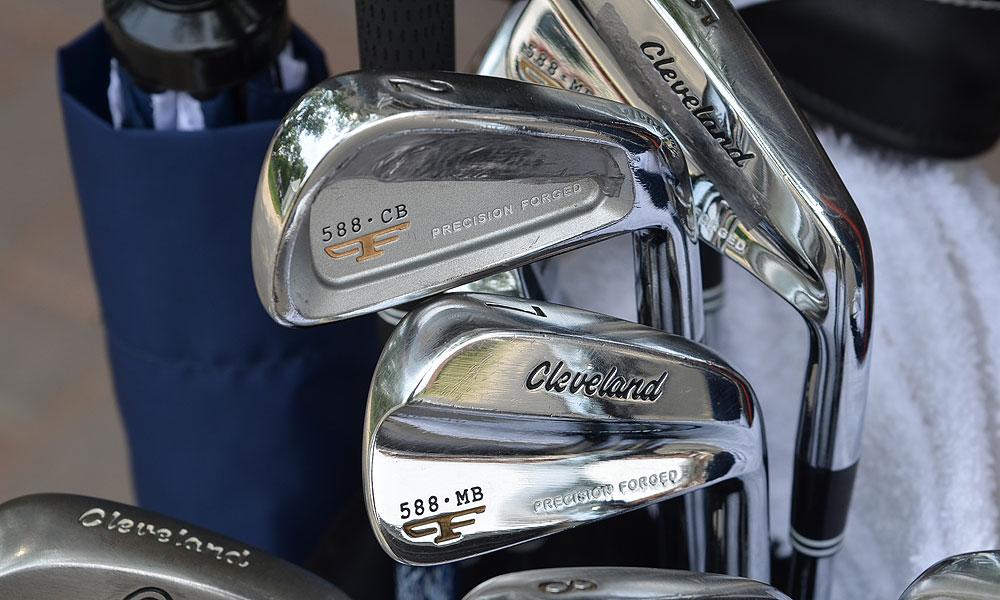 Alongside his Cleveland Forged 588 MB irons, Vijay Singh has a Cleveland Forged 588 CB 2-iron in his bag this week at Colonial.