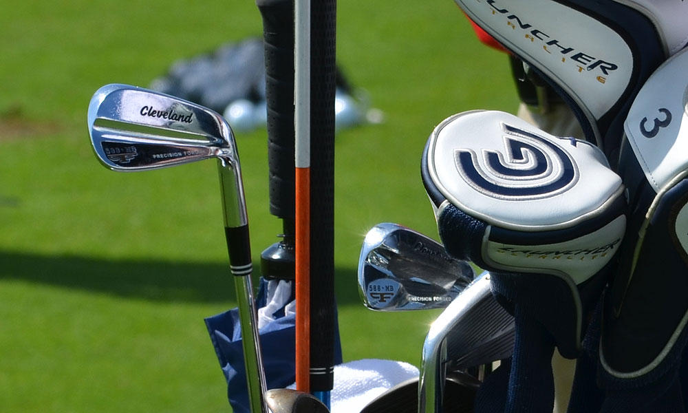 Vijay Singh, winner of the 2006 PGA Championship, uses Cleveland Forged 588 MB irons.
