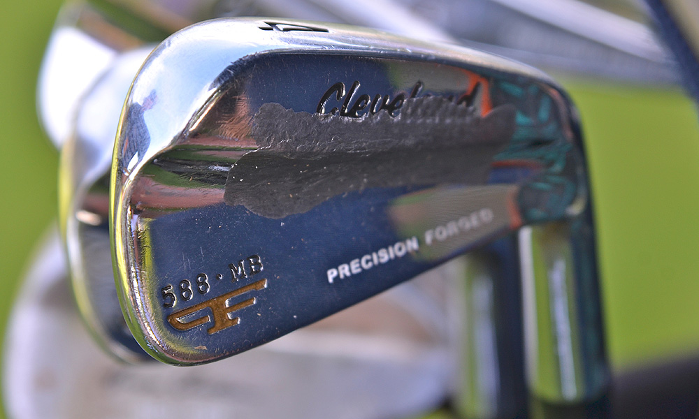 Vijay Singh adds weight tape to his vintage-looking Cleveland Forged 588 MB irons.