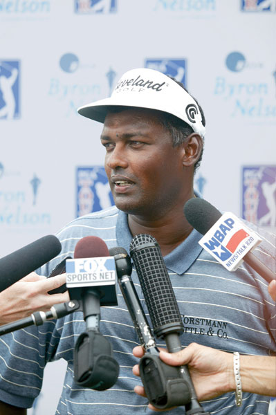 "Vijay Singh, circa 2003                   When Annika Sorenstam became the first woman to play a PGA Tour event in 58 years at the 2003 Colonial, it seemed like a quaint, feel-good story. The 32-year-old Swede had so dominated the women's game, it seemed she'd earned the right to try her game on the men's circuit. But then the AP quoted Singh saying, ""I hope she misses the cut. Why? Because she doesn't belong out here."" Other players, most notably Nick Price, said essentially the same thing, but it was the cantankerous Singh who took the fall. That was one of many feuds in which the sometimes-prickly Singh has been involved."