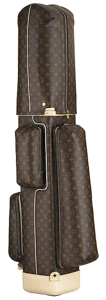 Most Expensive Bag: Louis Vuitton Golf Bag (left)                     This is the only time you can buy Louis Vuitton for someone other than your wife and not be accused of having an affair. Made from the company's Damier Geant monogrammed canvas it features a cowhide base and handle, a padded canvas-and-cowhide shoulder strap, a travel cover and six departments for all your other trinkets. Plus, they throw in four complimentary Louis Vuitton tees.                     Price tag: $9,050                                          Most Expensive Shoes: John Lobb, by Hermes                     This shoemaker crafts the priciest kicks on the planet, and they'll be custom made for your feet with a variety of the finest leathers available. But it takes longer to get these shoes than to get a tee time on Bethpage Black: up to six months.                     Price tag: Starting at $5,000