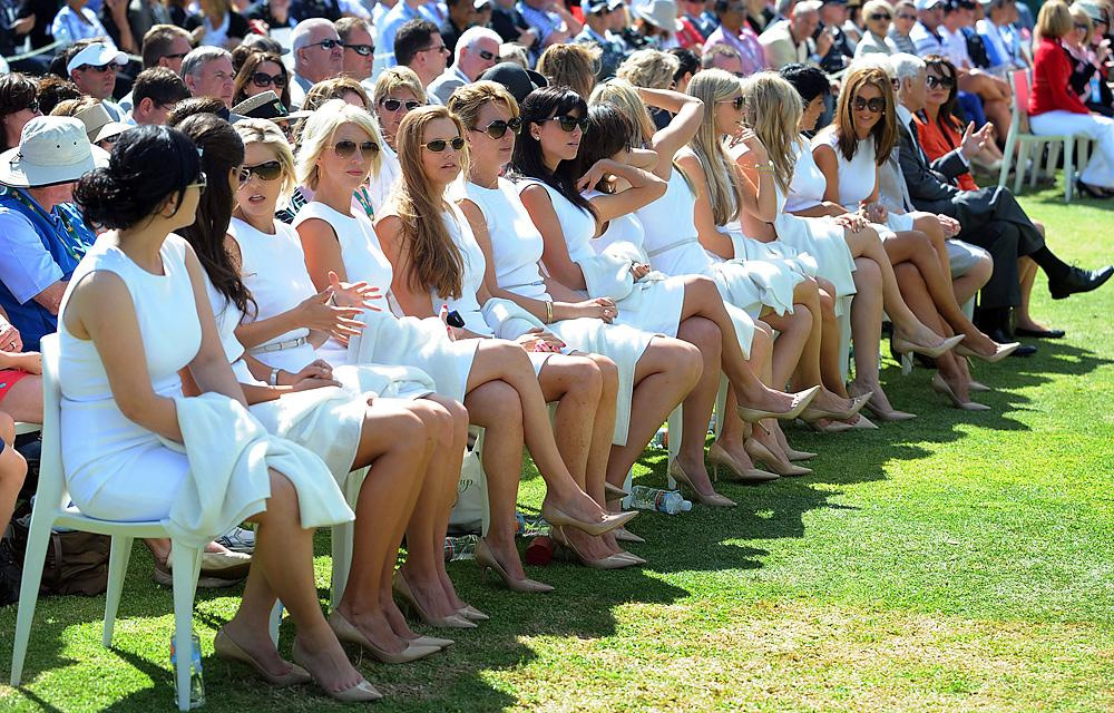 The wives and girlfriends were out en masse at the opening ceremony.