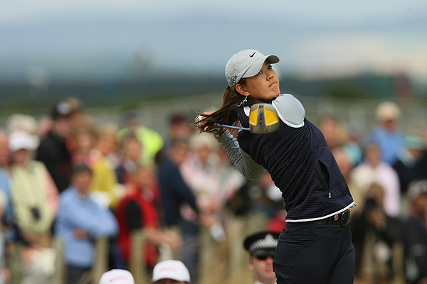 Michelle Wie was three under through 10 holes, but bogeys at 11, 14 and 16 lead to her finishing at even par for the day.