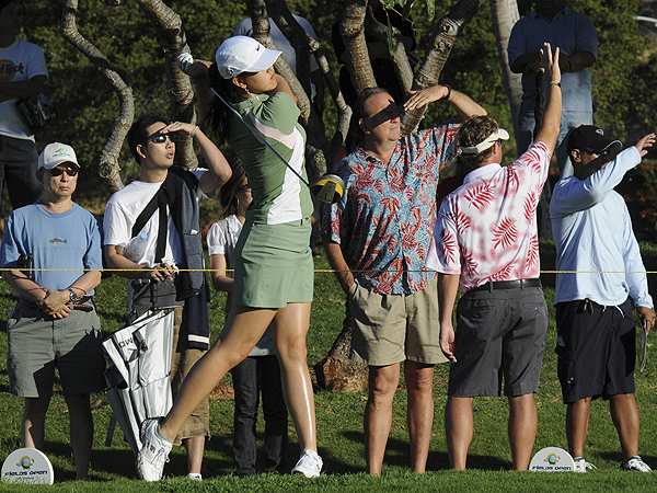 Michelle Wie was one of 14 golfers to shoot 69 on Thursday.