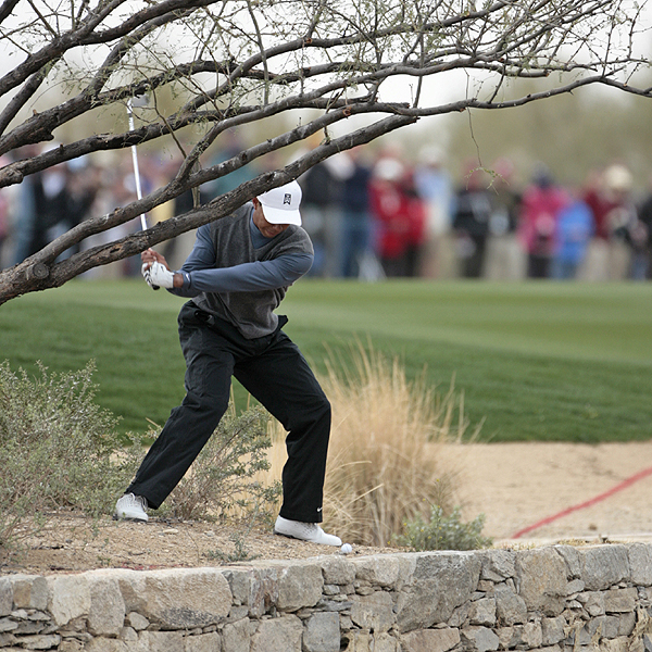 Tiger Woods's seven-event PGA Tour winning streak ended with a third-round loss to Nick O'Hern.