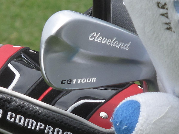 uses Cleveland's classic-looking CG1 Tour irons.