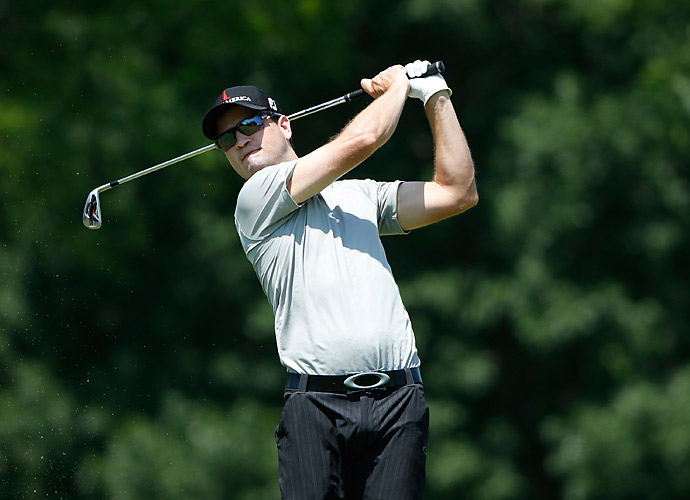 THURSDAY                   Zach Johnson was tied for the lead after shooting an eight-under 63 at the John Deere Classic.