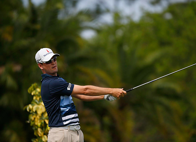 Zach Johnson came roaring back after an early quadruple bogey to finish at three under.