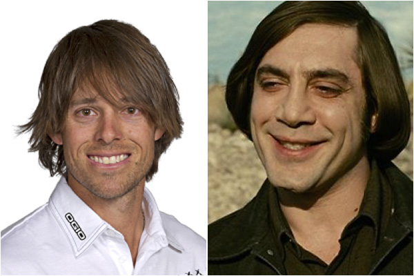 Aaron Baddeley and Javier Bardem