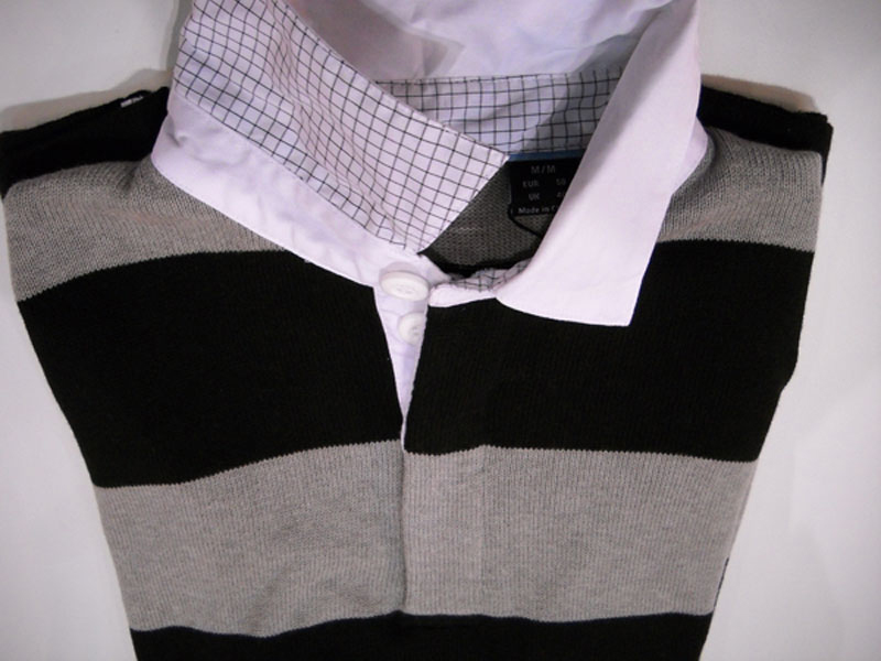While passing by the infinite number of vendors at this years PGA Merchandise Show, I saw many different styles and products that caught my eye. Here's a look at some of my favorites that will be perfect for the Spring season.                                              Abacus sweater                       Handsome golf pullover from Abacus, a Swedish golf company, is in the rugby-stripe style. The plush knit sweater body is topped by a soft woven Oxford collar, with fine grid detailing. Very sharp. Goes with almost anything. ($100)