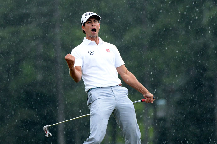 April 2013: Adam Scott becomes the first Australia to win the Masters. And the first to triumph at Augusta with an anchored stroke.
