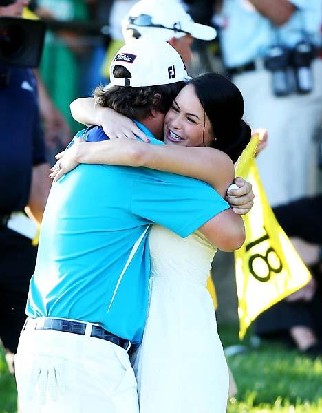 """She probably is. But why wouldn't you do that, right?                       --Jason Dufner on comments that his wife Amanda is ""too hot"" for him."