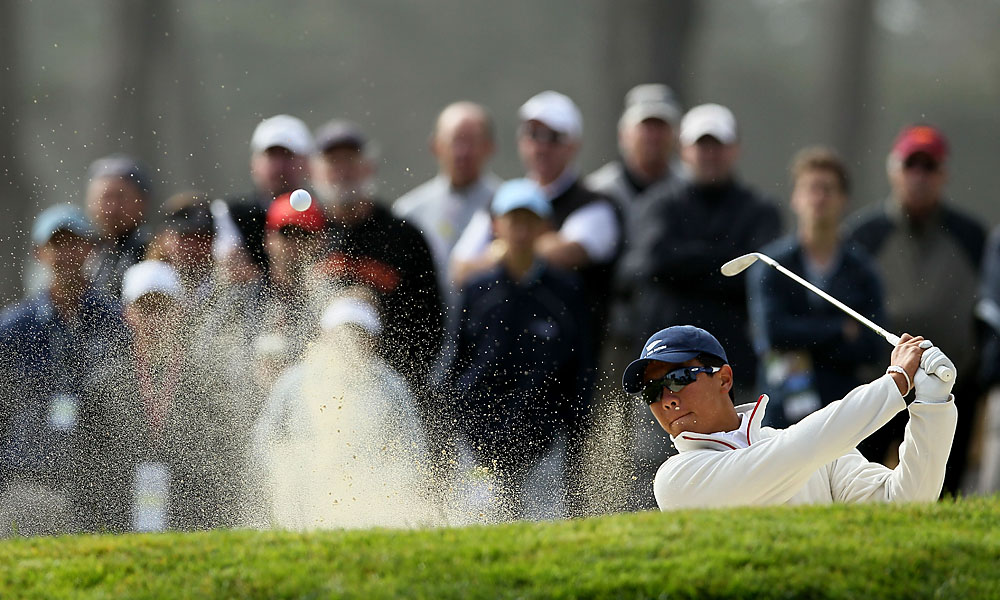 Fourteen-year-old Andy Zhang, believed to be the youngest player in U.S. Open history, was eight over through five holes but finished strong to shoot 79.