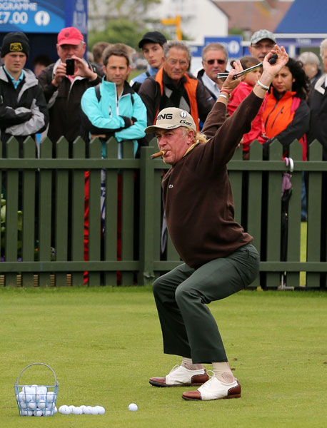 "Miguel Angel Jimenez: If you're trying to decide what it is that makes Miguel Angel Jimenez cool, options abound. His stretching techniques defy the limits of the averaged 49-year-old. ""I must have olive oil in my joints,"" he jokes. The only thing better than his curly ponytail that pokes out of his hat while on the course is  when he literally lets his hair down.  off the course. After he was leading the 2013 British Open, he was asked what time he was going to go to bed. ""Why, because I have the lead, now I must go to bed at 10? No, this is bulls---"" was the response. That same week, he was spotted on the range with a cigar and a bottle of wine instead of his Trackman and entourage. As Keegan Bradley tweeted that same day, maybe Miguel is the coolest man alive."