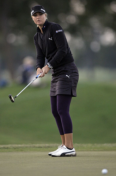 shot a four-under 68 Sunday to move her into a tie for third.