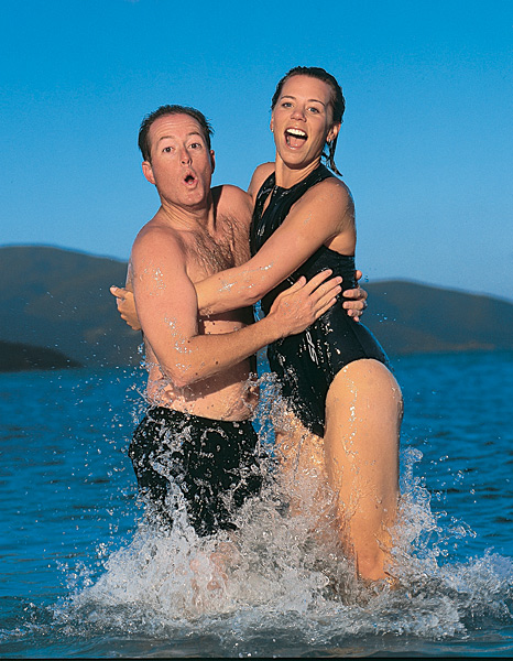 Sorenstam appeared in the 1999 Sports Illustrated Swimsuit Issue. Who's the dude? Ex-husband David Esch.