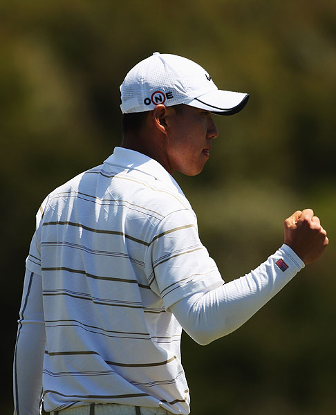 Anthony Kim won the Kiwi Challenge in a playoff over Sean O'Hair.