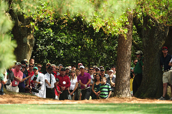 sent this punch shot at the first hole out of the trees and straight at Sports Illustrated photographer John Biever.