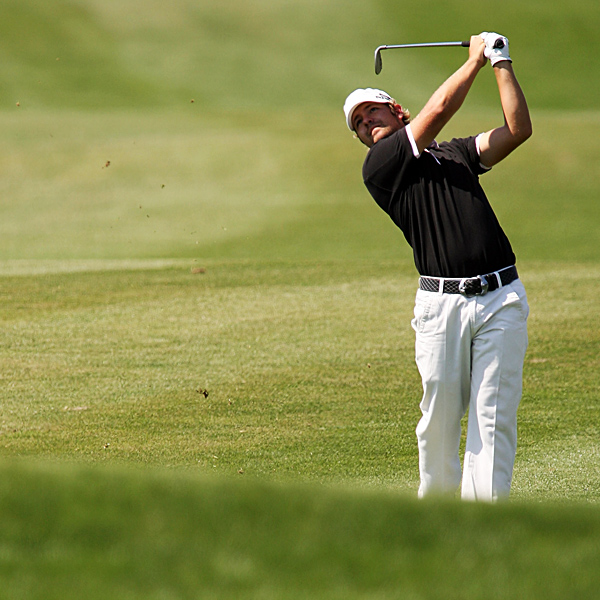 Ryan Moore, who finished at two under, had five birdies in a row on Nos. 13-17.