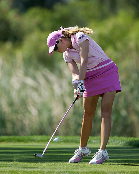 Seven bogeys moved Paula Creamer down the leaderboard on the final day.  She finished tied for 15th.