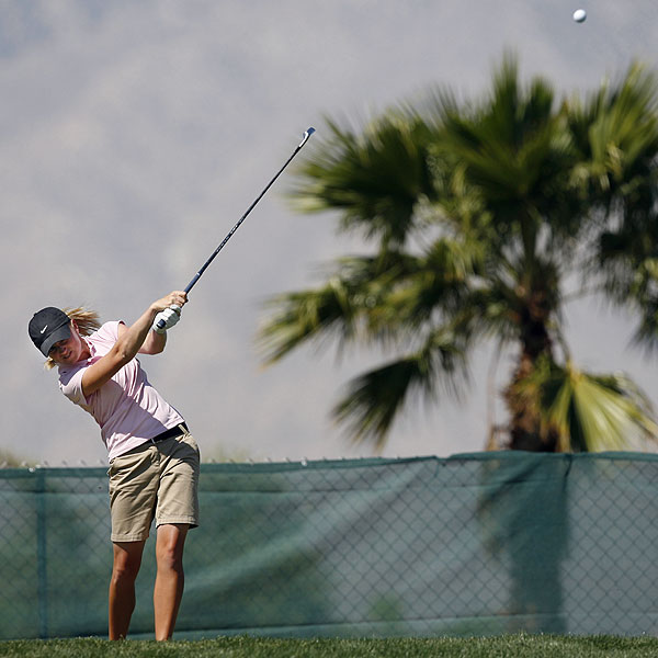 Stacy Lewis was the only amateur to finish near the top, tied for fifth.