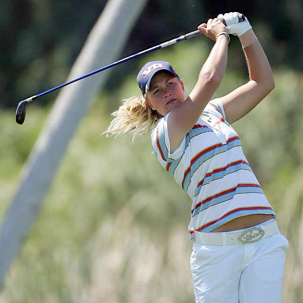 Suzann Pettersen was tied for the lead after three rounds but shot a two-over-par 74 on Sunday to fall out of contention.