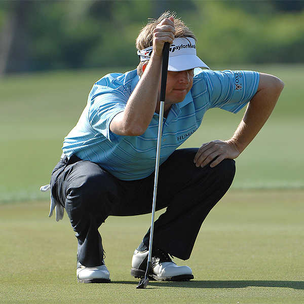 Louisiana native David Toms started the day with a bogey on the par 4 first hole.  He finished five strokes off the lead.