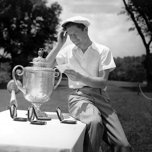 1A. Byron NelsonHe won 54 tournaments, including two Masters, one U.S. Open, and two PGA Championships. His 1945 record of 11 victories in a row is considered one of the least likely to be broken in all of sports.                                              Who was better? Hogan or Nelson? Click here to find out