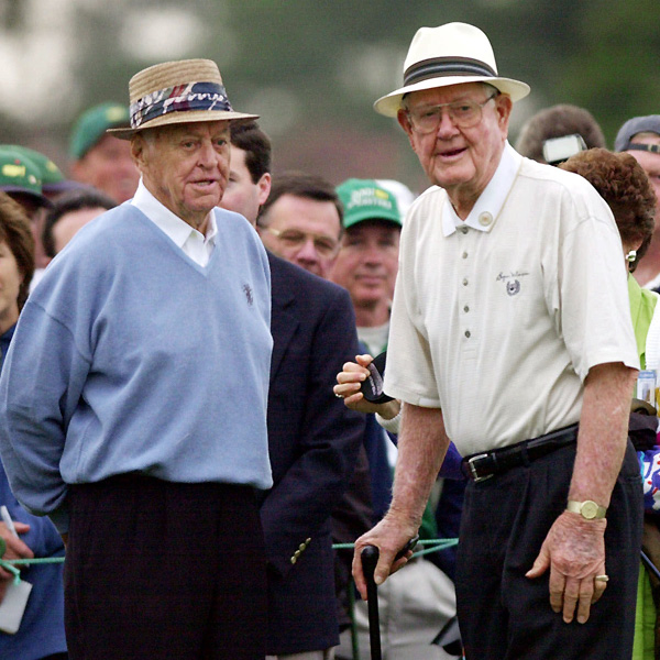 Nelson and Sam Snead served as honorary starters at the Masters.