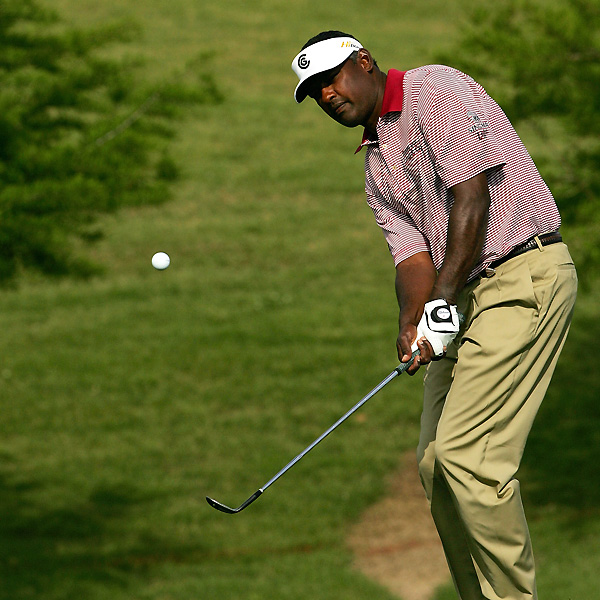 "Vijay Singh rebounded from a one-over 35 on the front nine to shoot four under on the back nine and move into the mix. Singh finished the day at four under after a second-round 67. ""I'm playing well and feeling good, so just trying to battle the greens on that side,"" Singh said. ""I think the good thing is everybody has to putt it, and the one who's the most patient will have a chance.""                                          See the latest news and photos about Vijay Singh"