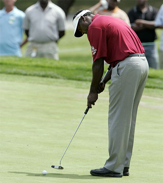 Vijay Singh, who had an eagle on the par-5 seventh hole, finished seven strokes off the lead.