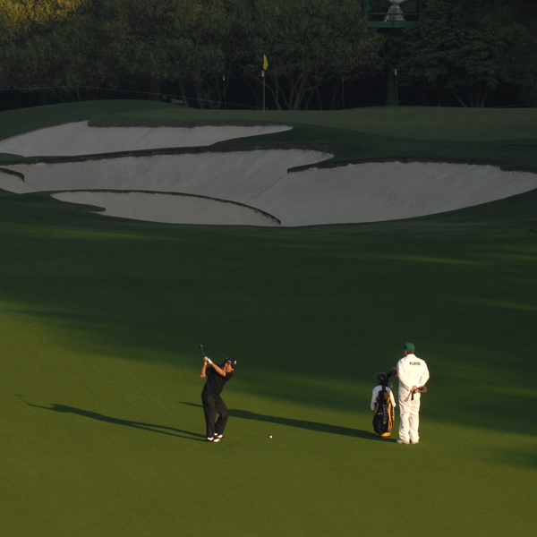 Gary Player competes in his 50th consecutive Masters this year, tying the record set three years ago by Arnold Palmer.