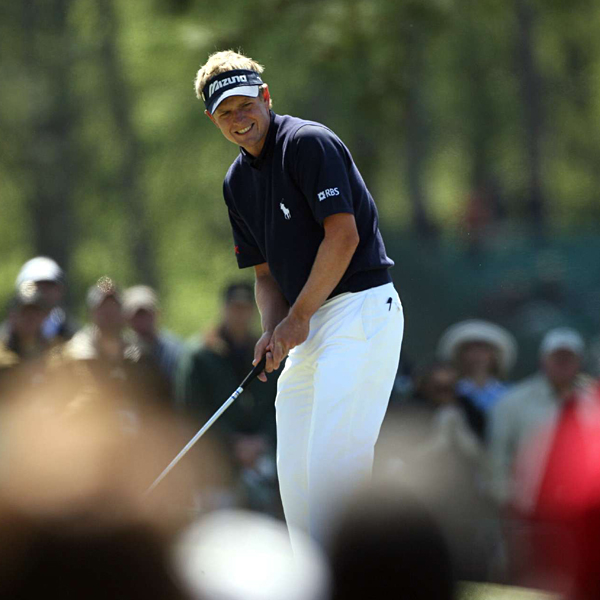 Luke Donald chipped in for eagle on the par-5 8th hole.  He finished tied for 10th.