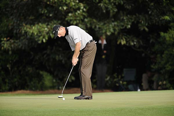 Despite finishing his round with a bogey, Jim Furyk finished two strokes off the lead.