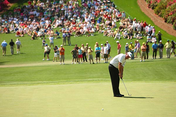 Second Round of the Masters                       Phil Mickelson got off to a good start Friday with three birdies on the front nine.