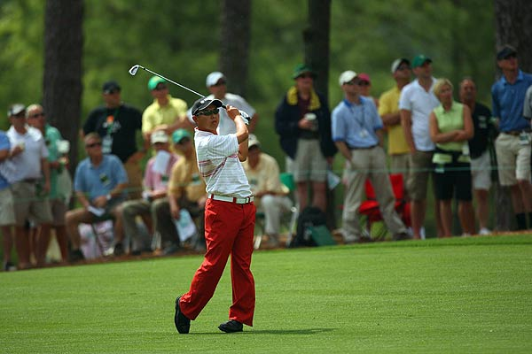 Japan's Toru Taniguchi was at four over par after his first-round 76.