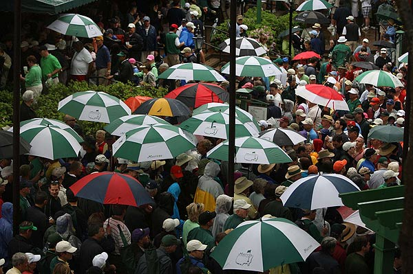 Rain wasn't going to keep the patrons away, though.