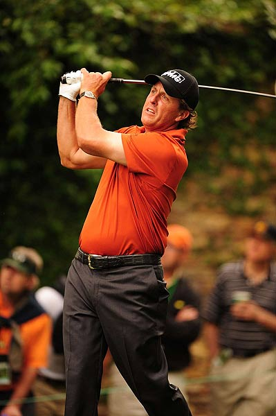 Mickelson then double bogeyed the par-3 16th hole to finish at two under par.