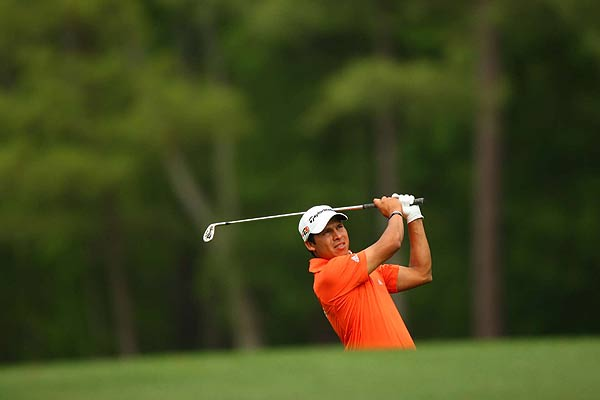 Andres Romero had three straight birdies on Nos. 11-13. He is at two under par.