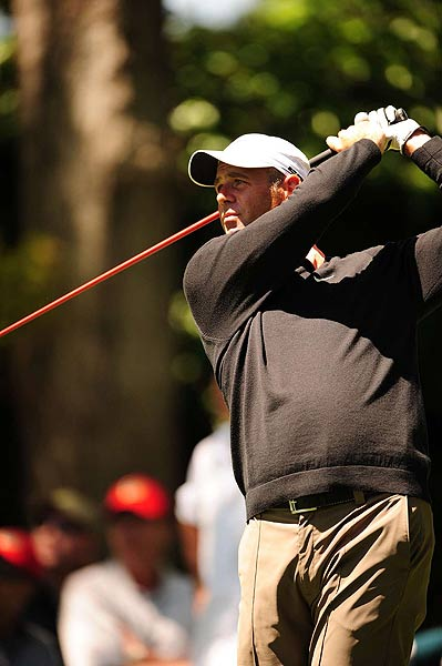 Stewart Cink, who played with Woods on Sunday, finished at four under par, tied with Snedeker in third place.