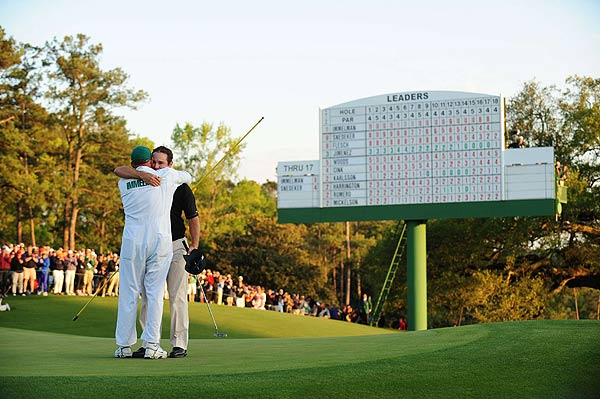 Immelman won his first major championship at eight under par on Sunday at Augusta National.