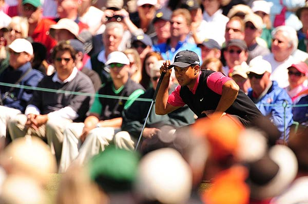 """I didn't putt well all week,"" Woods said after his round. ""I kept dragging the blade. I wasn't releasing it, wasn't getting the overspin like I normally do. Out here if you're not starting the ball perfectly on line, you're not going to make any putts."""